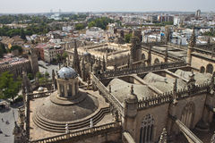 Aerial view of Sevilla Royalty Free Stock Photos