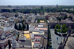 Aerial view of Sevilla Royalty Free Stock Images