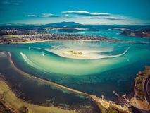 Aerial view of shallow ocean water. Narooma, NSW, Australia. Aerial view of shallow ocean water. Narooma, NSW, Australia Stock Images