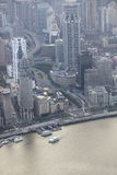 Aerial view of shanghai Stock Image