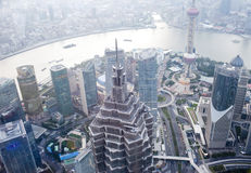 Aerial view of shanghai Royalty Free Stock Photos