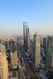 Aerial view of shanghai Royalty Free Stock Photo