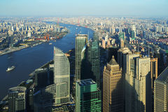 Aerial view of Shanghai Stock Photography
