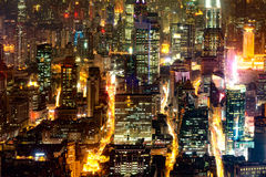 Aerial view of Shanghai city center. Stock Photos