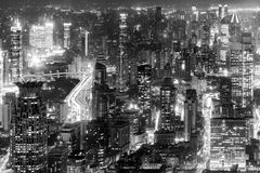 Aerial view of Shanghai city center. Royalty Free Stock Photos