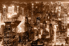 Aerial view of Shanghai city center. Royalty Free Stock Photo