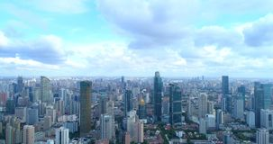 Aerial image of a megacity stock photo