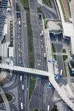 Aerial view of shanghai  road Royalty Free Stock Photos