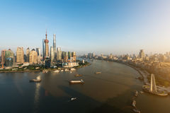 Aerial view of shanghai, shanghai lujiazui finance and business Stock Photography