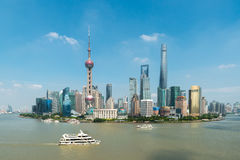 Aerial view of shanghai, shanghai lujiazui finance district. Aerial view of shanghai, shanghai lujiazui finance and business district trade zone skyline with Royalty Free Stock Images