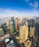 Aerial view of shanghai under blue sky Stock Image