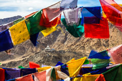 Aerial View of Shanti Stupa Royalty Free Stock Image