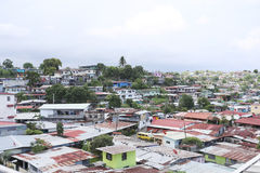 Aerial view of shanty towns in Panama City, Panama Royalty Free Stock Photography