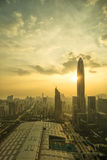 An Aerial View of Shenzhen, China. Aerial View of the City of Shenzhen in China royalty free stock image