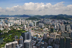 Aerial view of Shenzhen panoramic Royalty Free Stock Image