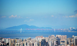 Aerial view of Shenzhen panoramic Stock Photography