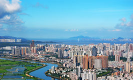 Aerial view of Shenzhen panoramic Stock Photos