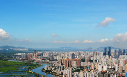 Aerial view of Shenzhen panoramic Royalty Free Stock Photo
