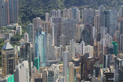 Aerial view of the Sheung Wan at IFC Royalty Free Stock Images
