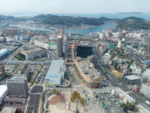 Aerial View of Shimonoseki, Japan Royalty Free Stock Image