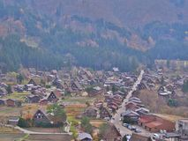Aerial view of Shirakawa-go, Japan. Royalty Free Stock Images