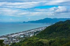 Aerial view of Shizuoka strawberry farms along Pacific coast. Ja Royalty Free Stock Image