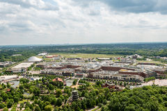 Aerial view of the shopping center Centro in Oberhausen, Germany Stock Photo
