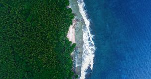 Aerial View of Siargao Island and Tropical Pacific. View from Drone stock image