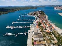 Aerial view of Sibenik in Croatia Royalty Free Stock Photo