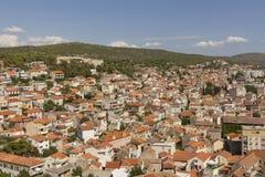 Aerial view of sibenik Stock Photo