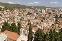 Aerial view of sibenik Royalty Free Stock Photography