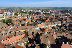 Aerial view of Sibiu, Romania Stock Photos