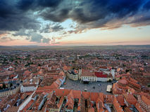 Aerial view of Sibiu, Tranylvania, Romania Royalty Free Stock Images