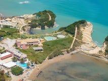 Aerial view on Sidari in Corfu Kerkyra Royalty Free Stock Photo