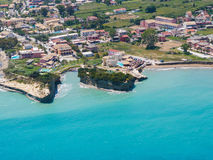 Aerial view on Sidari in Corfu Kerkyra Royalty Free Stock Photo