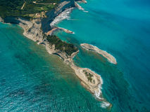 Aerial view on Sidari in Corfu Kerkyra Stock Images