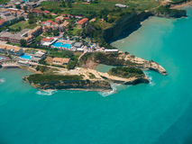 Aerial view on Sidari in Corfu Kerkyra Royalty Free Stock Image