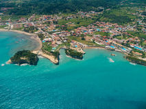 Aerial view on Sidari in Corfu Kerkyra Royalty Free Stock Images