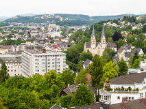 Aerial view of Siegen, city in Germany Stock Photography