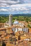 Aerial view of Siena. Aerial view on Siena Cathedral, Italy Stock Photography