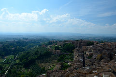 Aerial view of Siena city in Tuscany, Italy. Royalty Free Stock Photography