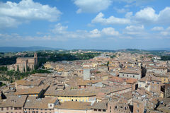 Aerial view of Siena city in Tuscany, Italy. Royalty Free Stock Images