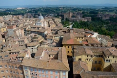 Aerial view of Siena city in Tuscany, Italy. Stock Photo