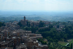 Aerial view of Siena city in Tuscany, Italy. Stock Photography