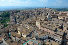 Aerial view of Siena city in Tuscany, Italy. Stock Photos