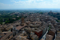 Aerial view of Siena city in Tuscany, Italy. Royalty Free Stock Photo