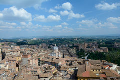 Aerial view of Siena city in Tuscany, Italy. Royalty Free Stock Image