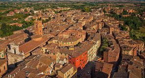 Aerial view on Siena, Stock Photo