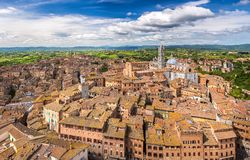 Aerial view of Siena. Aerial view over Siena, Italy Stock Images