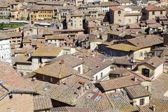 Aerial view of Siena, Tuscany, Italy Royalty Free Stock Image
